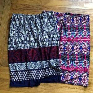 Dresses & Skirts - Set of 2 Stretch Pencil Skirts- Size Large